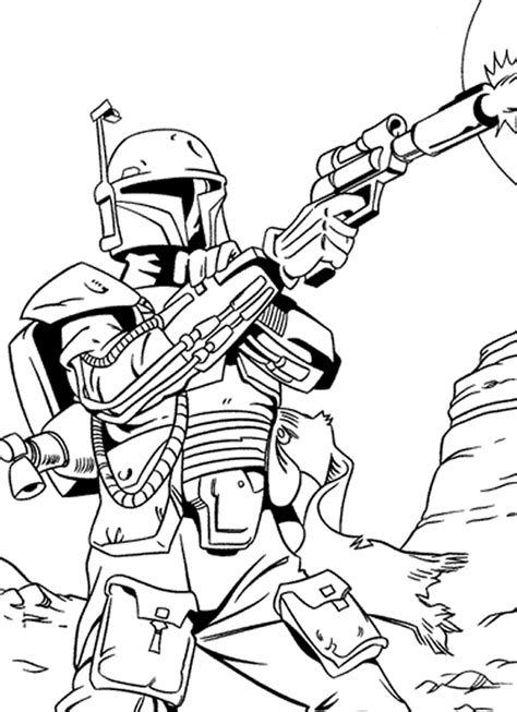 Coloriage Star Wars 224 Imprimer Wars Coloring Pages Boba Fett