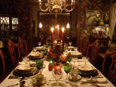 How To Decorate A Buffet Table In Dining Room by Elegant Thanksgiving Dinner Table Autumn Pinterest