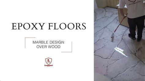 Metallic Epoxy Coating   Marble Design over Wood Sub fl