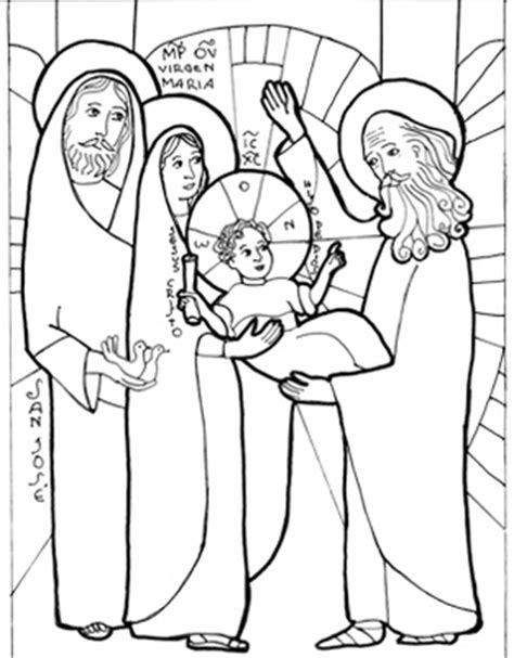 baby jesus presented at the temple coloring pages presentation of jesus in the temple baby jesus presented