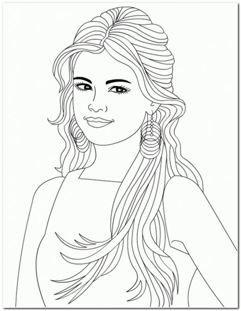 hair coloring pages az coloring pages selena gomez free coloring pages on art coloring pages