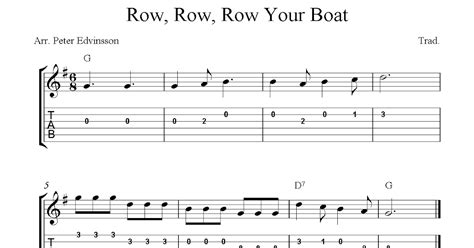 row your boat sheet music row row row your boat easy free guitar sheet music and tabs