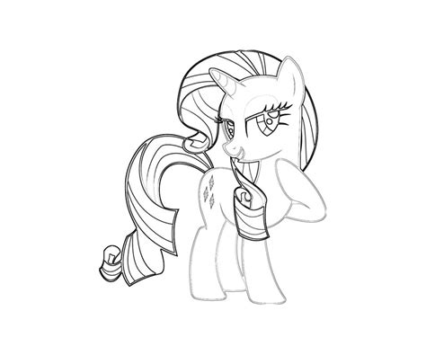 my little pony rarity coloring pages az coloring pages