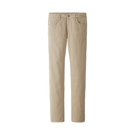 Uniqlo Stretch Fit Black Colour uniqlo beige stretch slim fit tapered color for lyst