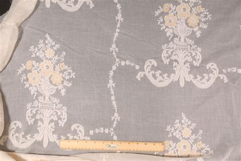 cotton lace fabric for curtains cotton linen lace drapery fabric in light caramel