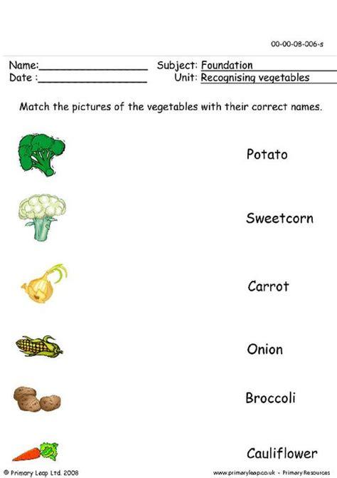 vegetables worksheet recognising vegetables primaryleap co uk
