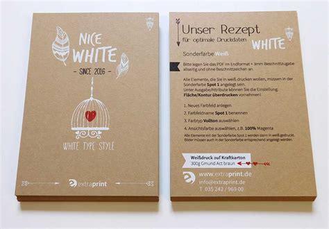 Online Drucken Kraftpapier by Spezialpapier Drucken Online Druckerei Extraprint