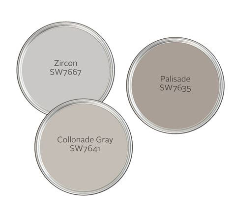 sherwin williams zircon pleasing palette great gray
