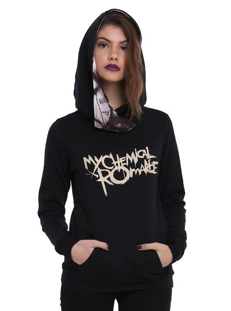 Hoodie Pullover All Time Low Pcs 1 my chemical black parade from topic my