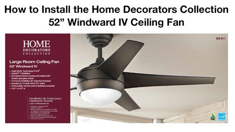 How To Replace A Ceiling Fan With A Light Fixture How To Install 52 In Windward Iv Ceiling Fan