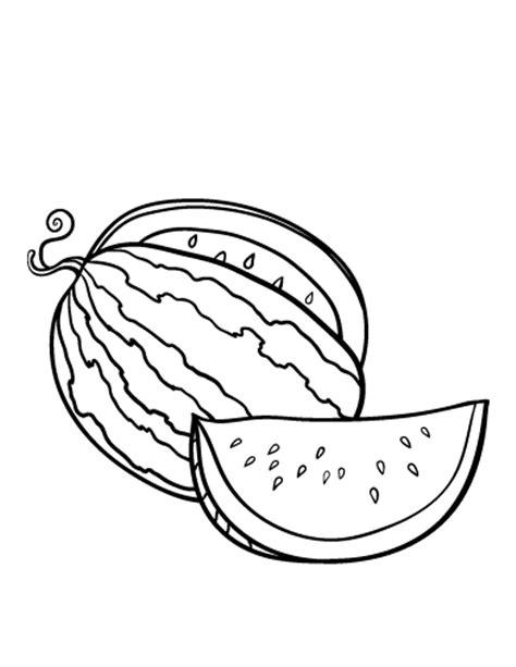 kumpulan gambar sketsa mewarnai buah semangka si gambar
