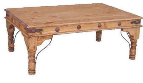coffee table with conchos southwestern coffee tables