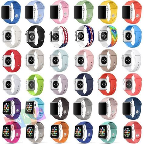 New Color Premium Sport Band For Apple Iwatch 38mm 42 Mm new colors sport band silicone fitness for apple iwatch series 1 2 38 42mm ebay