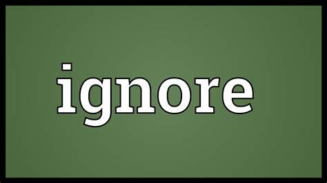Vi Search Ignore Ignore Meaning
