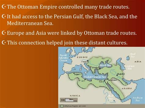 ottoman empire trade routes ppt modern middle east powerpoint presentation id 2459315