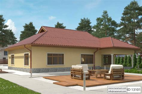 Three Bedroom House Id 13204 3 Bedroom House Plan Id 13101 House Designs By Maramani