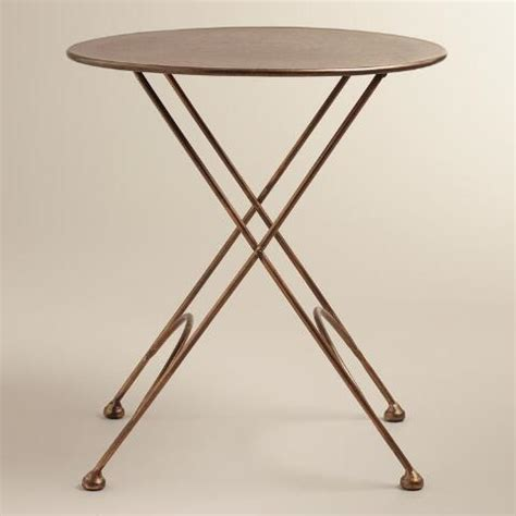metal round accent table round ariana metal accent table world market