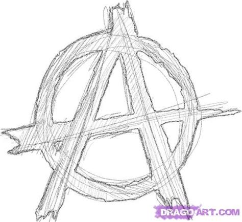 how to draw an anarchy sign step by step symbols pop