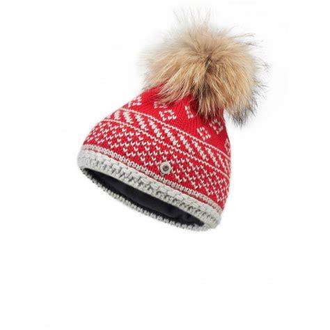 bogner casey womens designer ski hat in and white