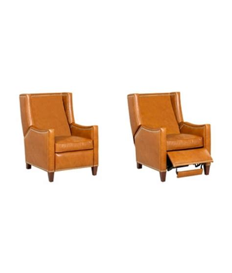 Small Wingback Recliner Small Leather Wingback Recliner Chair W Nailhead Trim