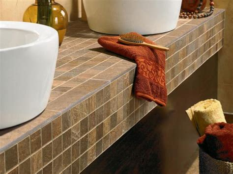 tile bathroom vanity countertop tile countertop buying guide hgtv