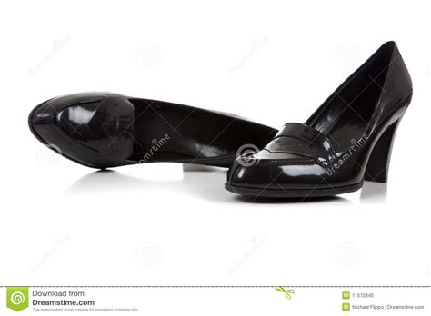 s black dress shoes on a white background royalty