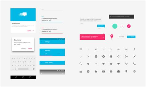 android gui design template free material design gui templates icon sets idevie