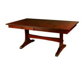 Amish Dining Table Amish Wasilla Trestle Dining Table