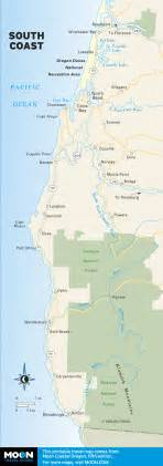 travel maps of oregon and the oregon coast moon
