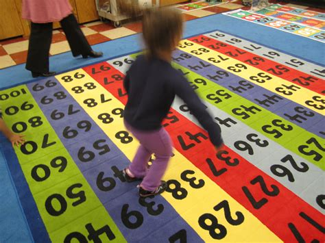 100 Grid Rug Mat - 100 number grid classroom rug math made