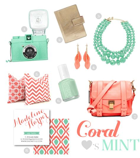 mint and coral home decor color crush mint coral modshop style blog