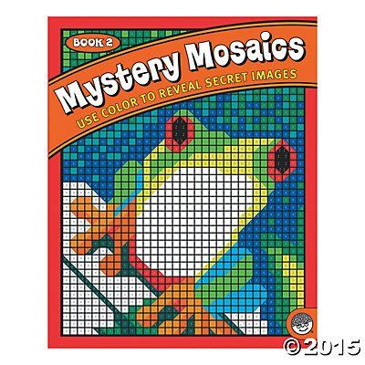 mosaic picture book mystery mosaics book 2 color by number for adults and