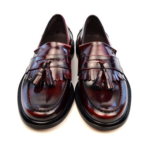 loafers with tassel oxblood tassel loafers the prince mod shoes