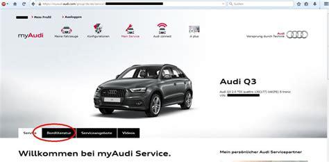 Audi Bordbuch by Bild3 Audi Bordbuch Myaudi Audi Q3 207820881
