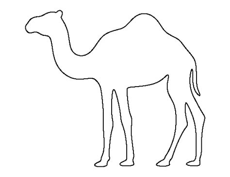 free printable drawing templates camel pattern use the printable outline for crafts