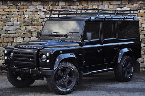 Bespoke Roof Racks by Bespoke 110 Station Wagon In Black With Roof Rack And Panoramic Glass Bespoke Cars