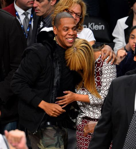 Beyonce & Jay Z at Brooklyn Nets vs. Toronto Raptors basketball game (Nov 3 2012)