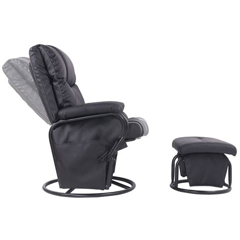swivel recliner and ottoman merax ergonomic swivel glider rocking recliner and ottoman