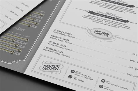 vintage resume template retro resume template on behance