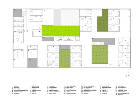 health center floor plan muros health center irisarri pi 241 era arquitectos archdaily