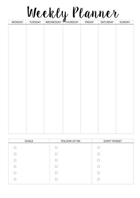 weekly planner templates 2018 weekly planner template fillable printable pdf