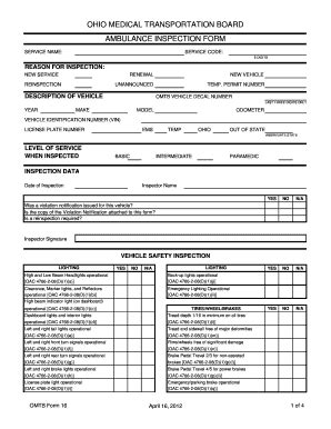Ambulance Inspection Diagram Wiring Diagram Ems Run Form Template