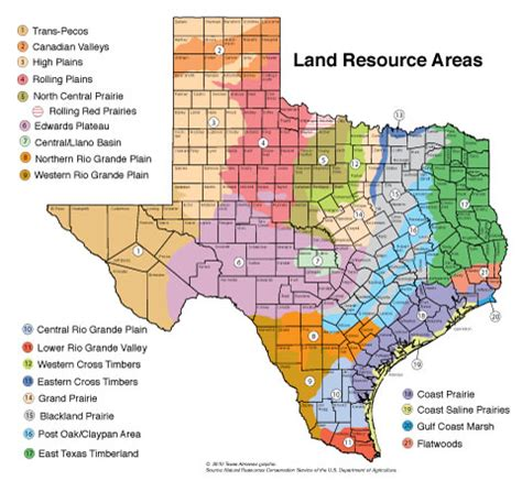 lands of texas map environment texas almanac