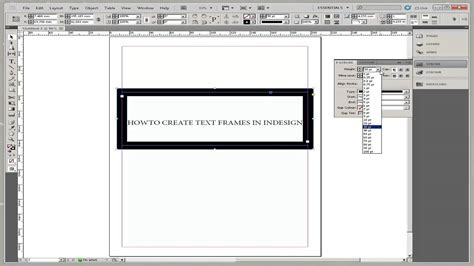 pattern font indesign how to create text frames in indesign youtube