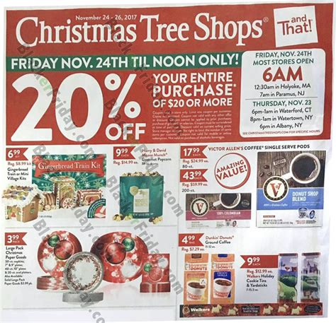 christmas tree shops black friday 2018 sale ad blacker
