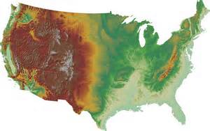topographical map of united states terrain analysis