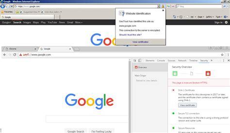 chrome error google chrome https security error on google com under
