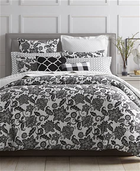black floral bedding charter club damask designs black floral bedding