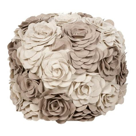 Flower Pouf Ottoman flower pouf ottoman in cobblestone wedding creations and memories