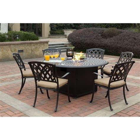 7pc Patio Dining Set Darlee View 7 Patio Dining Set In Antique Bronze 201630 7pc 60gd